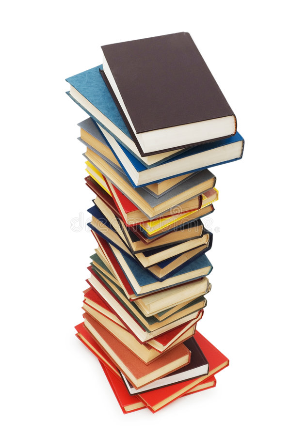 изолированные книги предпосылки штабелируют белизну стоковое изображение rf