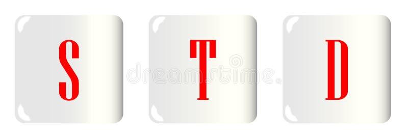 Изолированные кнопки STD бесплатная иллюстрация