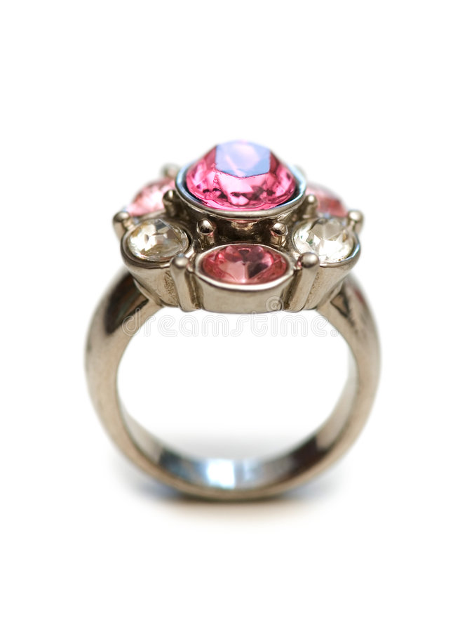 изолированные красные камни кольца стоковые фотографии rf