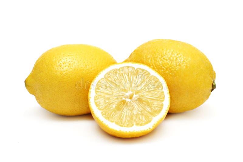 изолированные лимоны стоковое изображение