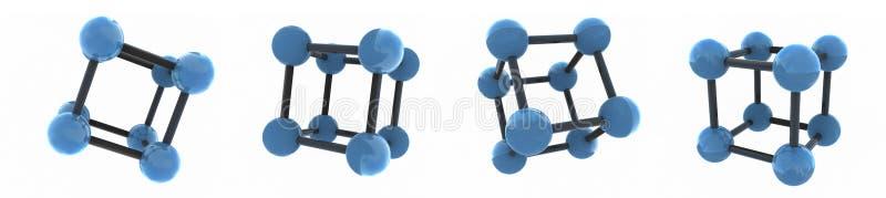 изолированные молекулы иллюстрация вектора