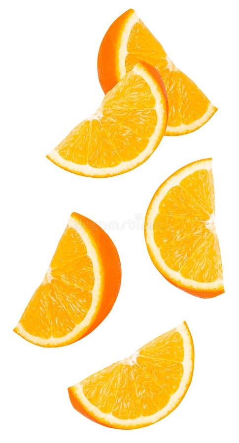 Изолированные оранжевые куски стоковое изображение