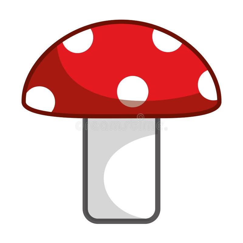 Изолированные остроконечные грибки величают иллюстрация вектора дизайна иллюстрация вектора