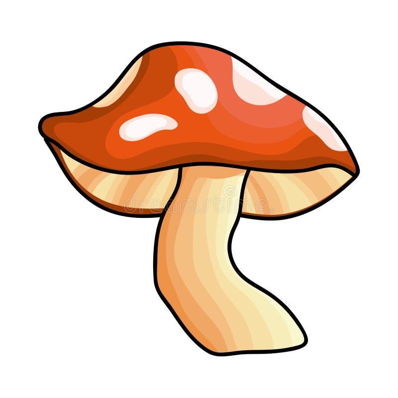Изолированные остроконечные грибки величают иллюстрация вектора дизайна бесплатная иллюстрация