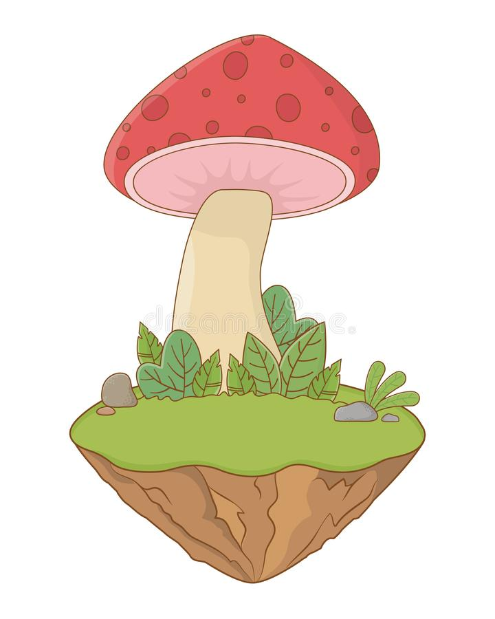 Изолированные остроконечные грибки величают иллюстрация вектора дизайна иллюстрация штока