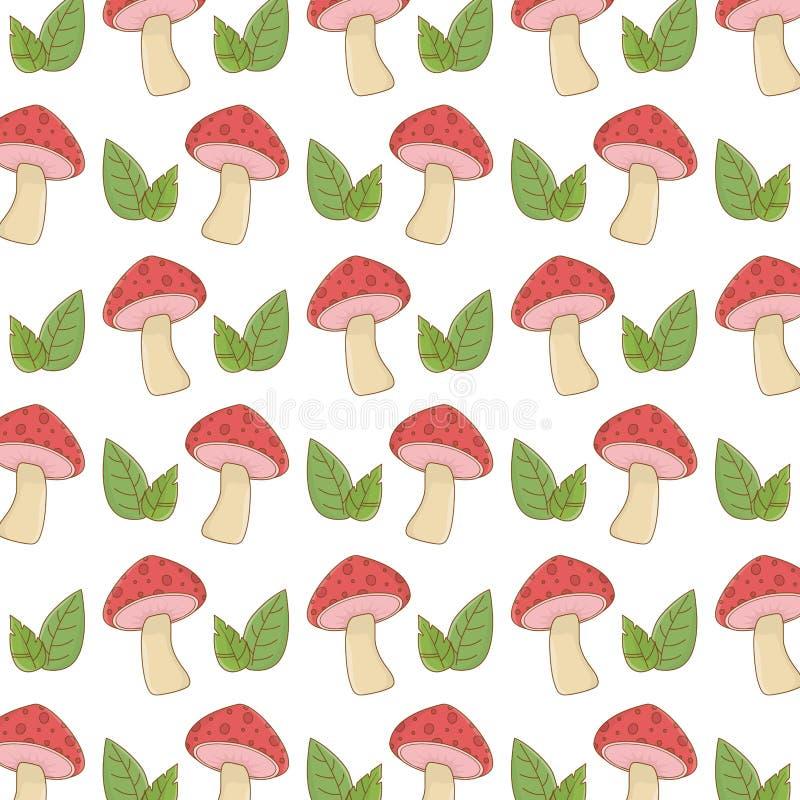 Изолированные остроконечные грибки величают и иллюстрация вектора leavesdesign иллюстрация штока