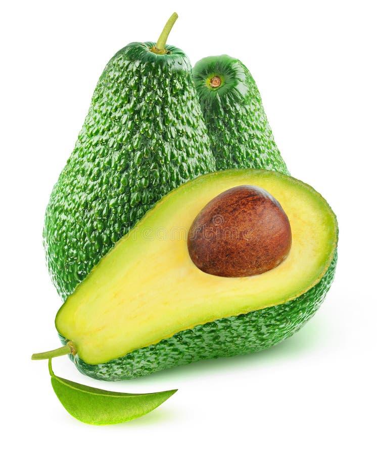 Изолированные отрезанные плоды авокадоа стоковая фотография