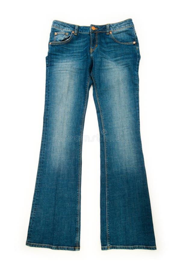 изолированные пары джинсыов стоковое изображение rf