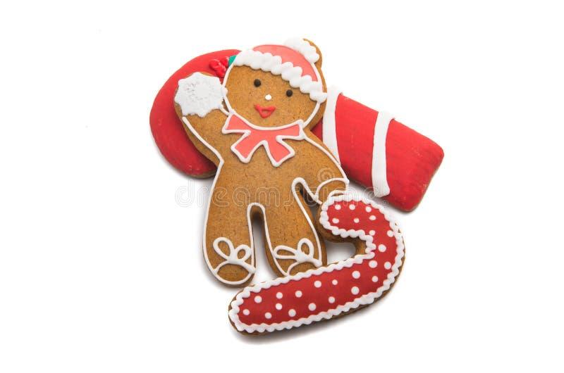 изолированные печенья рождества имбиря стоковые фото
