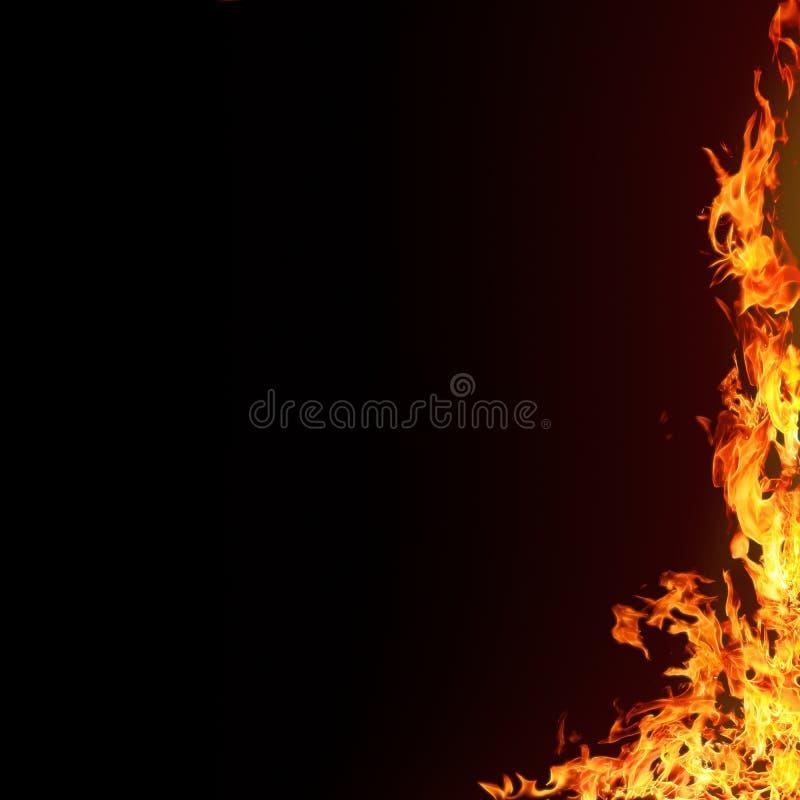 изолированные пламена предпосылки иллюстрация штока