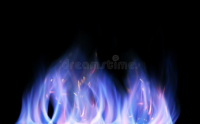изолированные пламена стоковая фотография rf