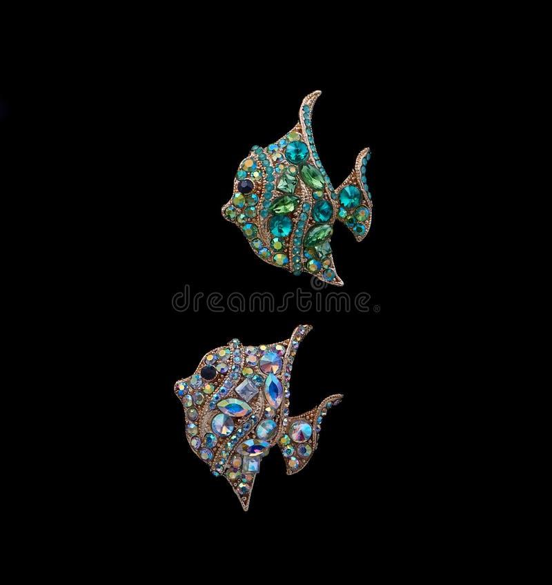 Изолированные рыбы ювелирных изделий стоковые изображения rf