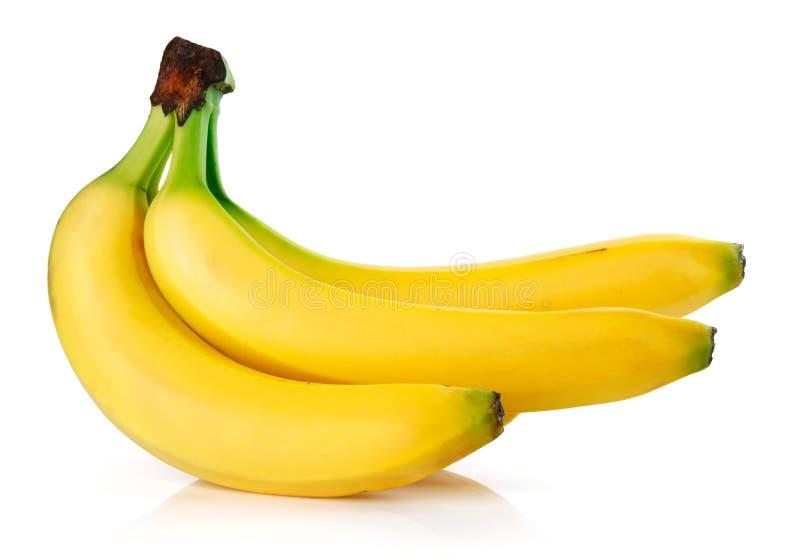 изолированные свежие фрукты банана стоковые фотографии rf