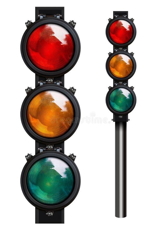 Изолированные светофоры стоковые фото