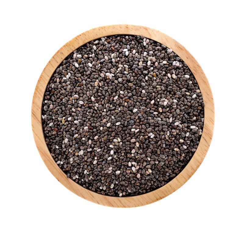Изолированные семена Chia стоковые фотографии rf