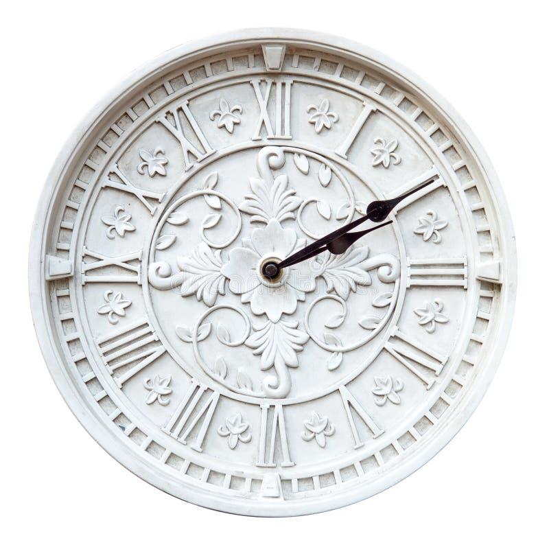 Изолированные часы стены стоковая фотография