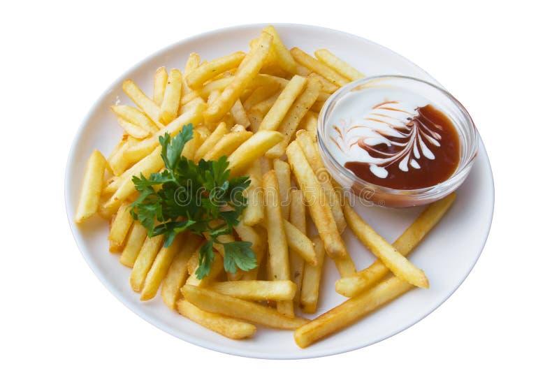 изолированные fries франчуза стоковое фото rf