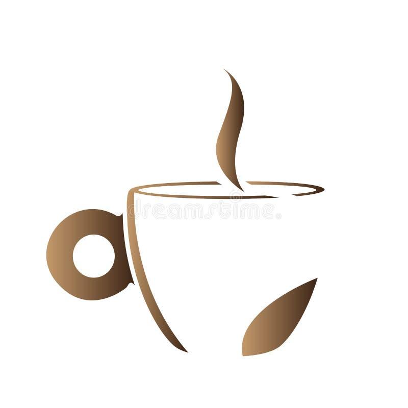 Изолированный абстрактный логотип кружки кофе бесплатная иллюстрация