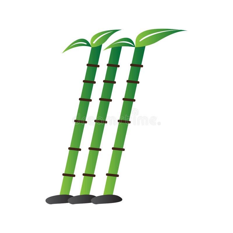 Изолированный бамбуковый символ Абстрактный логотип курорта иллюстрация вектора