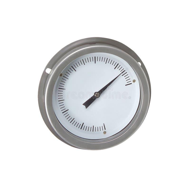Изолированный барометр металла сетноой-аналогов стоковая фотография rf