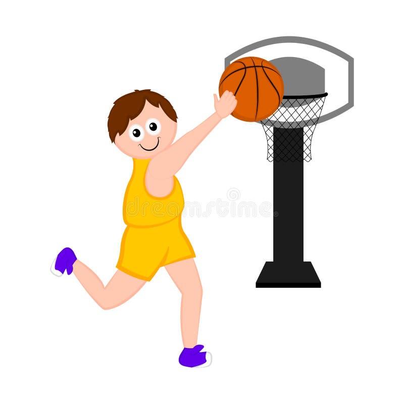 Изолированный баскетболист ведя счет пункт иллюстрация штока
