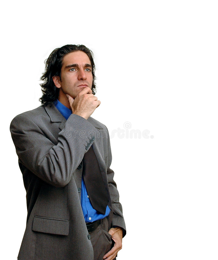 изолированный бизнесмен 4 стоковое изображение