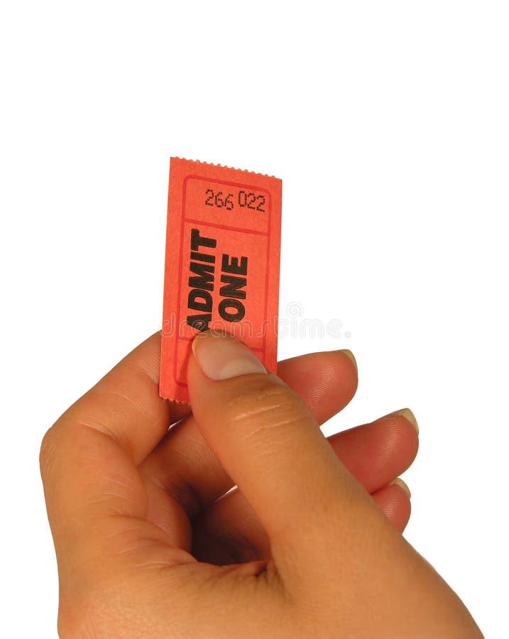 изолированный билет стоковые изображения rf
