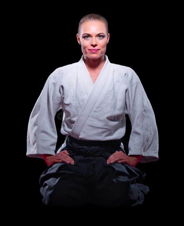 Изолированный боец боевых искусств стоковое изображение rf