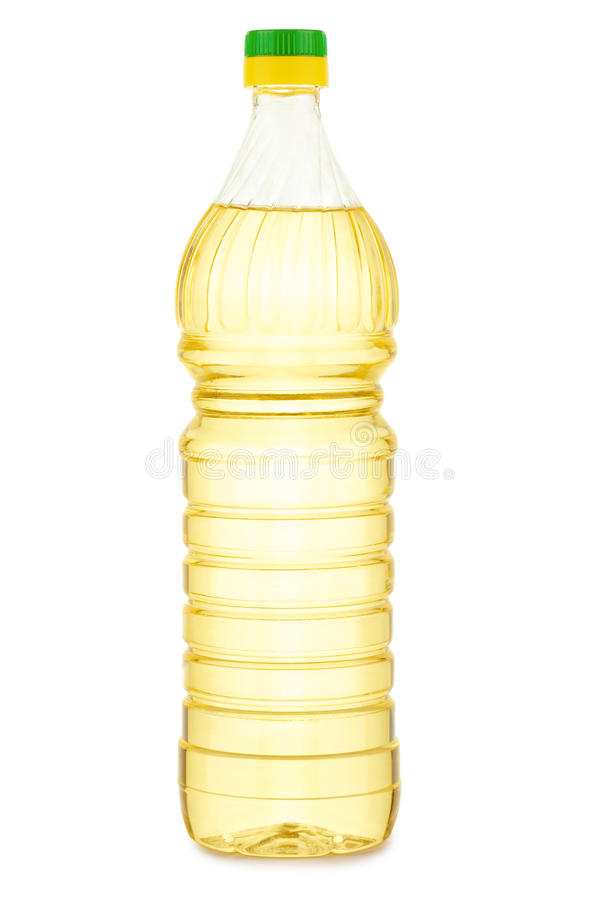 изолированный бутылкой желтый цвет масла стоковое фото