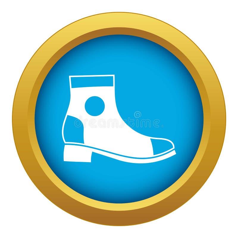 Изолированный вектор значка ботинка людей голубой бесплатная иллюстрация