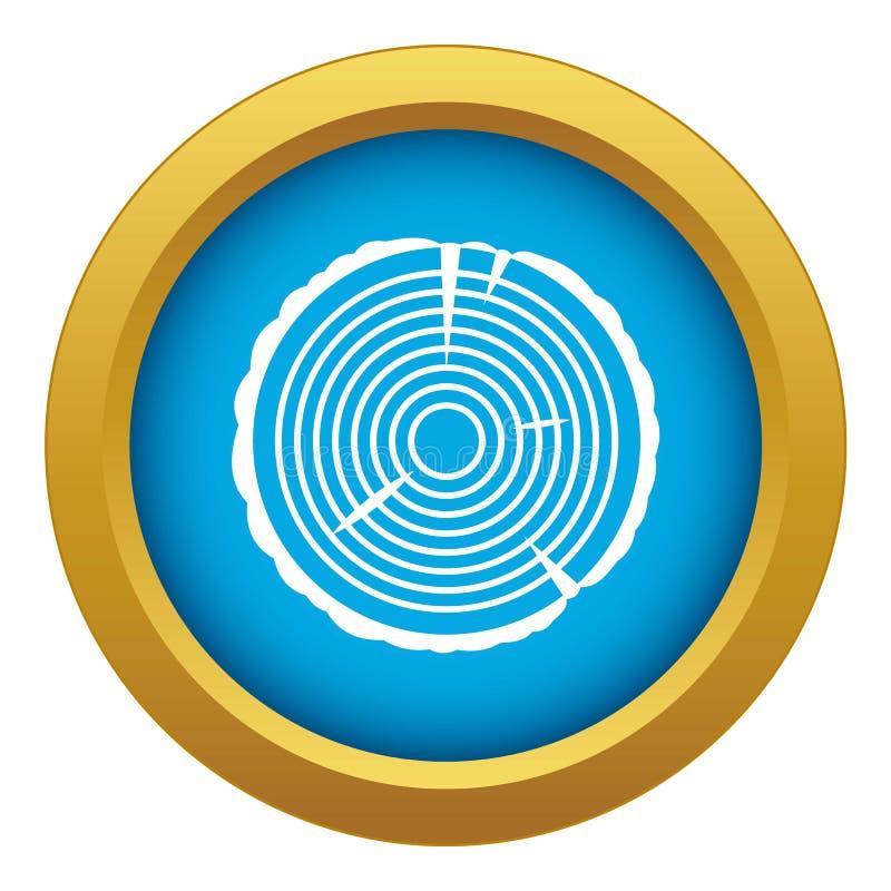 Изолированный вектор значка кольца дерева голубой иллюстрация штока