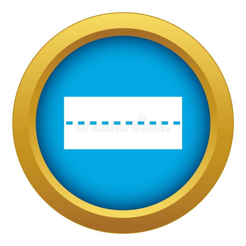 Изолированный вектор значка прямой дороги голубой иллюстрация вектора