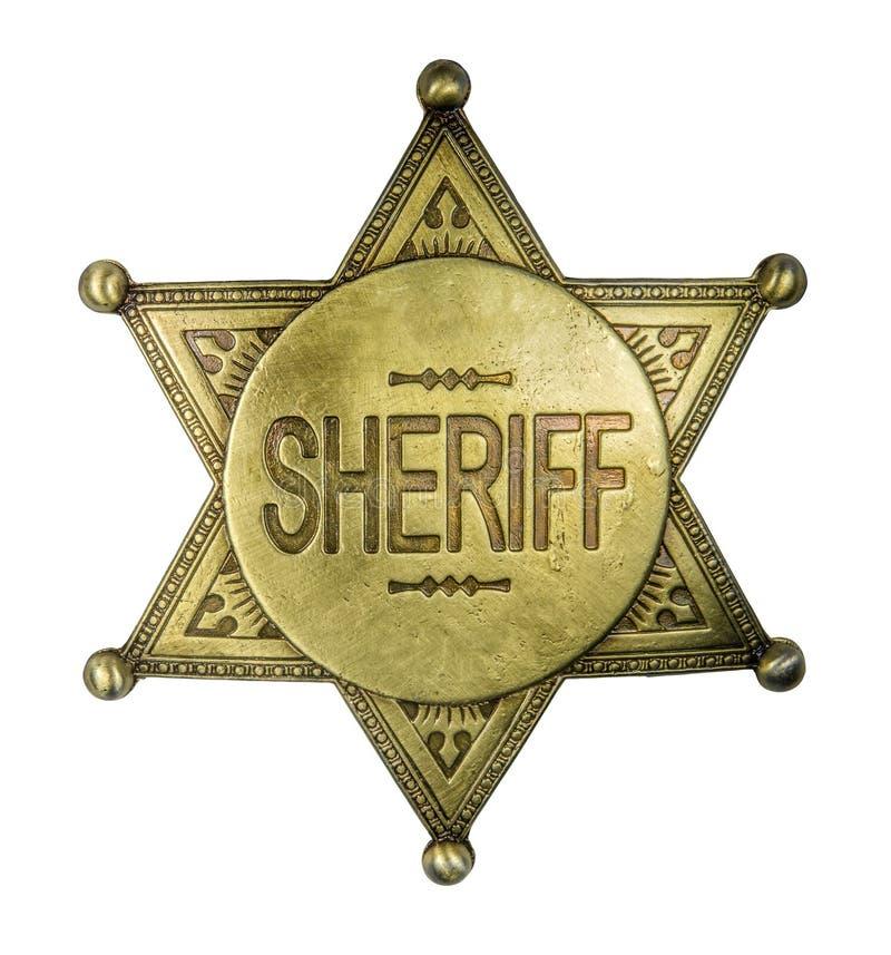 Изолированный винтажный значок шерифа стоковая фотография