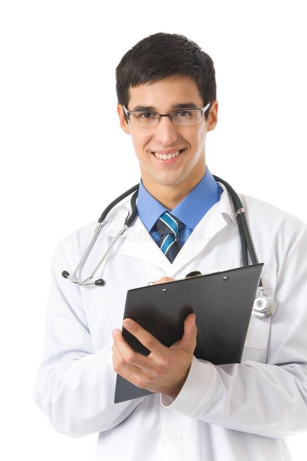 изолированный доктор clipboard стоковое изображение rf