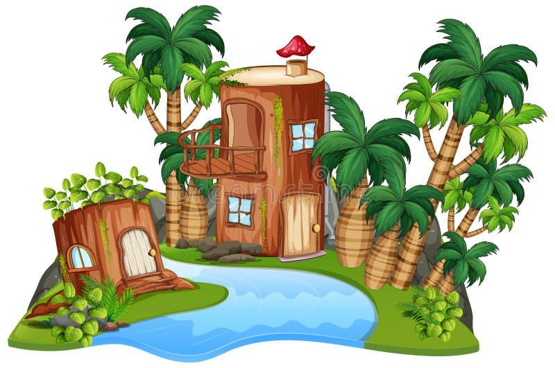 Изолированный дом фантазии бесплатная иллюстрация