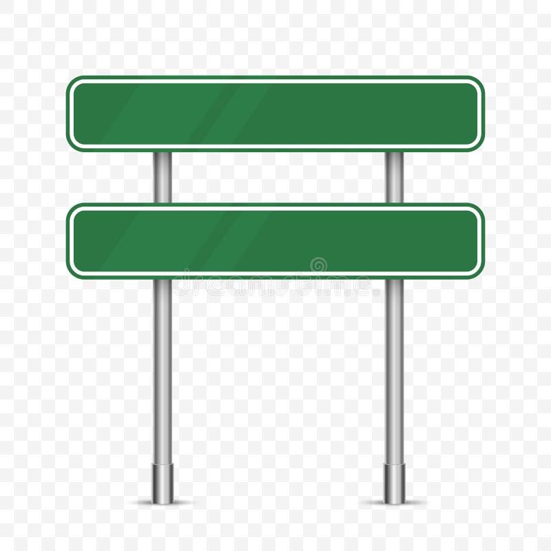 Изолированный дорожный знак движения зеленого цвета пробела иллюстрация штока