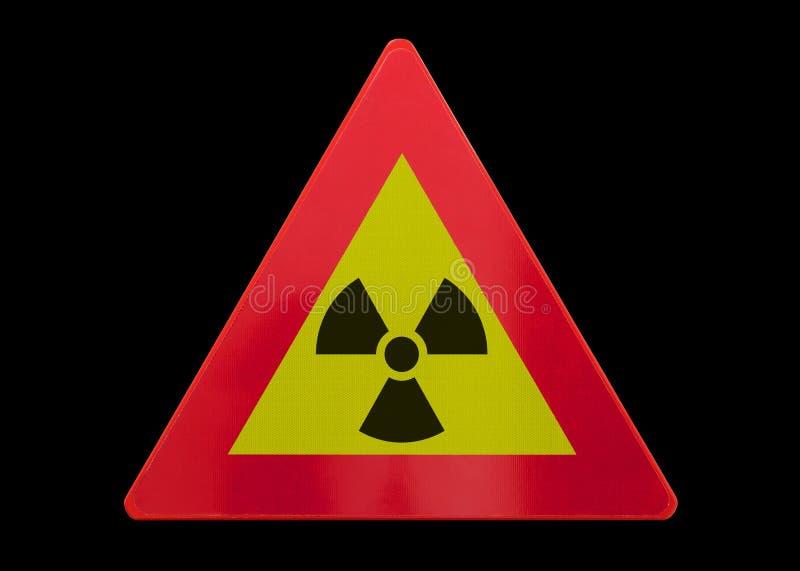 Изолированный дорожный знак - радиация стоковые изображения