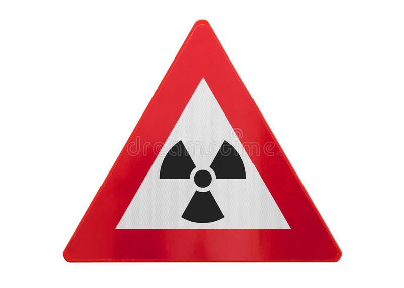 Изолированный дорожный знак - радиация стоковое изображение rf