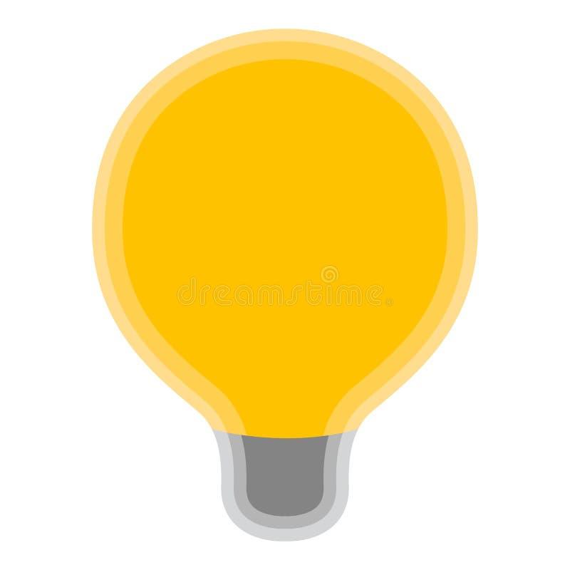 Изолированный желтый символ лампочки бесплатная иллюстрация