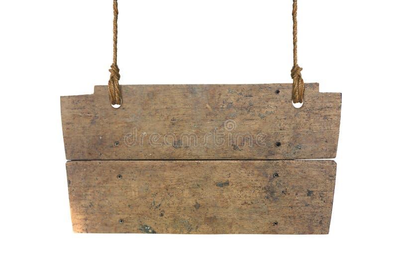 изолированный знак деревянный стоковые фотографии rf