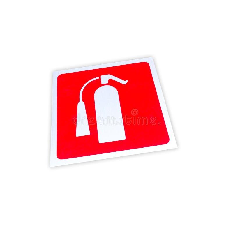 Изолированный знак огнетушителя стоковое фото rf