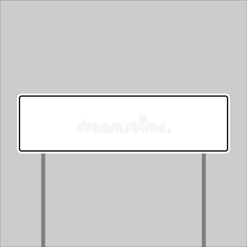Изолированный знак показывая имя места иллюстрация вектора