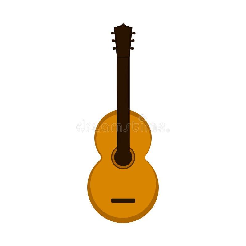 Изолированный значок гитары бесплатная иллюстрация