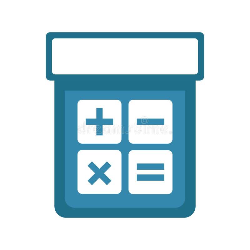Изолированный значок калькулятора бесплатная иллюстрация