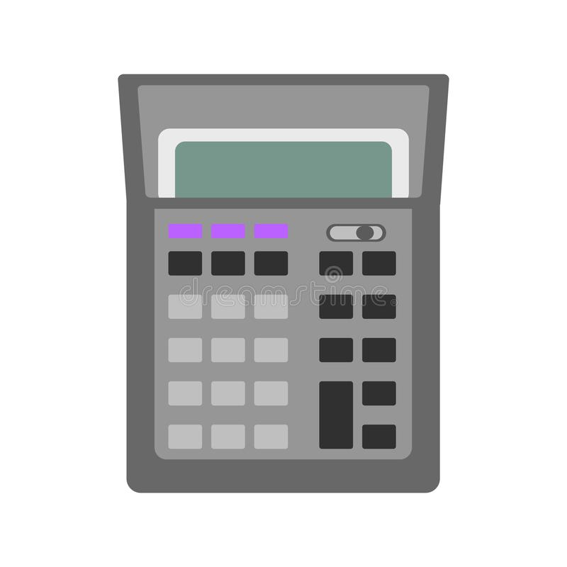 Изолированный значок калькулятора иллюстрация штока