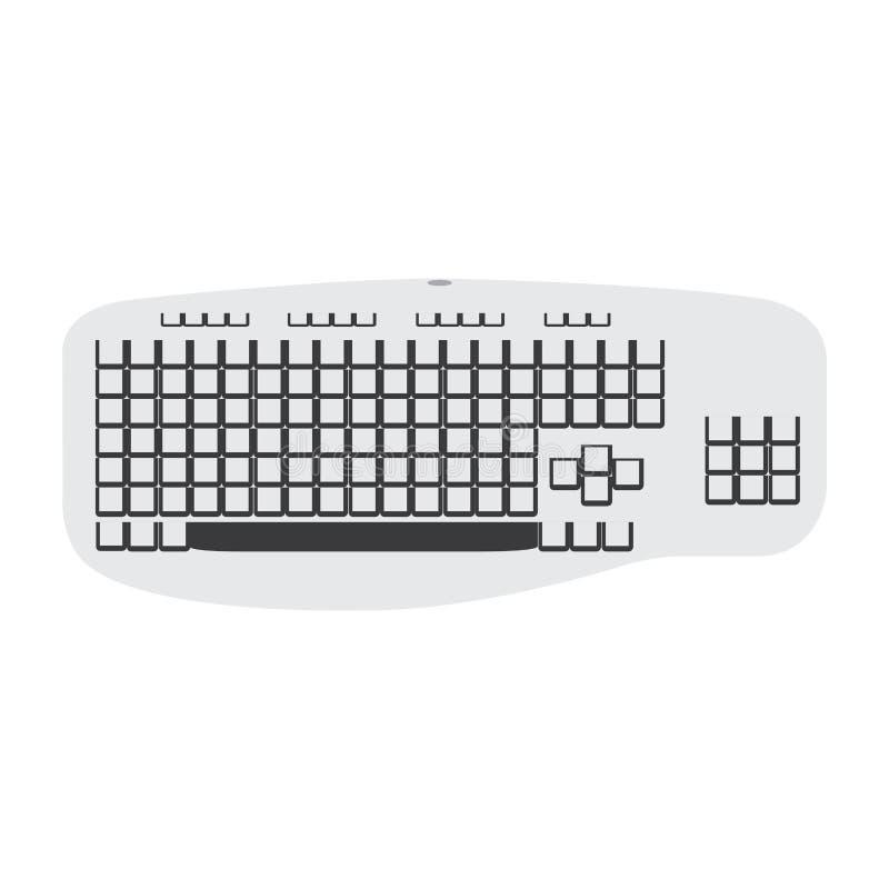 Изолированный значок клавиатуры иллюстрация штока