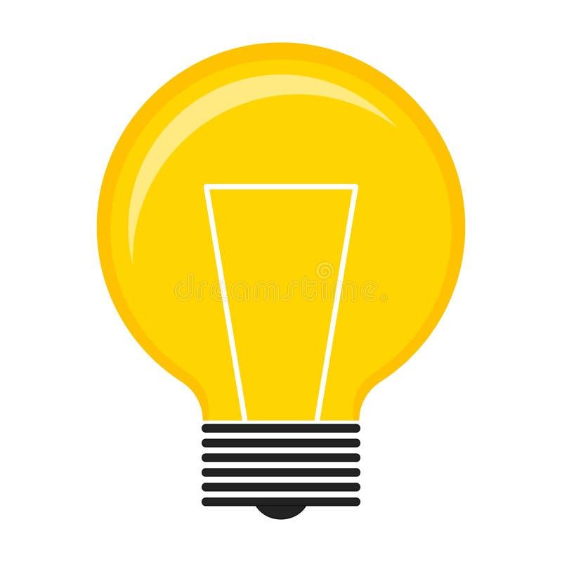 Изолированный значок лампочки бесплатная иллюстрация