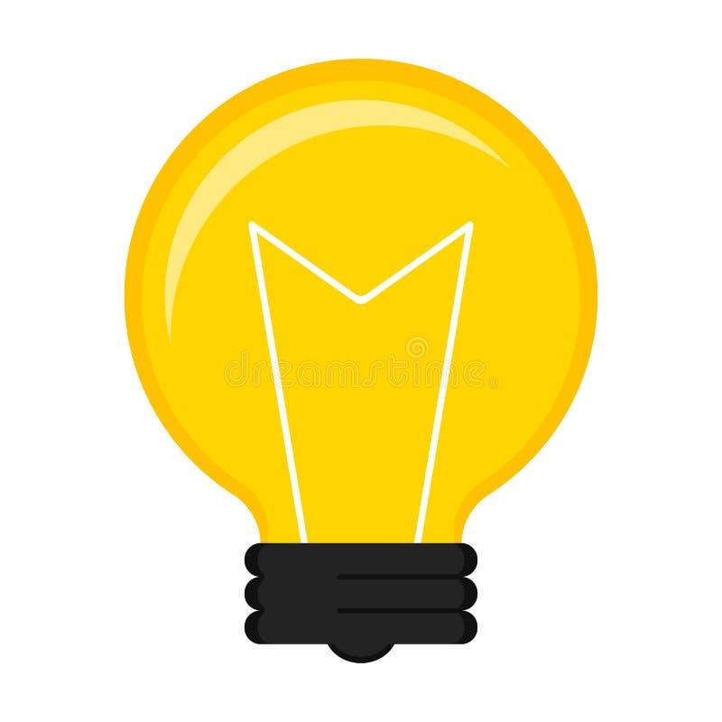 Изолированный значок лампочки иллюстрация вектора