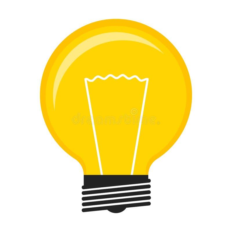 Изолированный значок лампочки иллюстрация штока