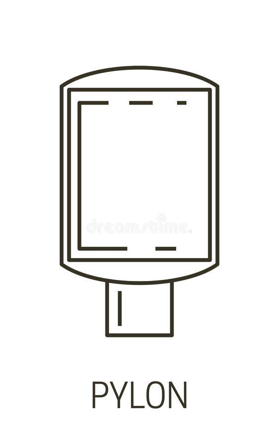 Изолированный значок линии, внешний или внутренний рекламный баннер иллюстрация штока